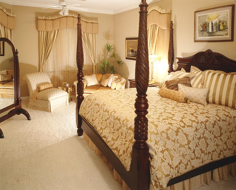 Plantation bed master bedroom andrea sherman design for Plantation style bedroom