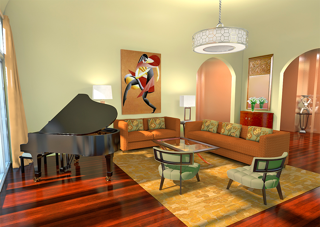 Interior Design 3D Rendering - Boca Raton