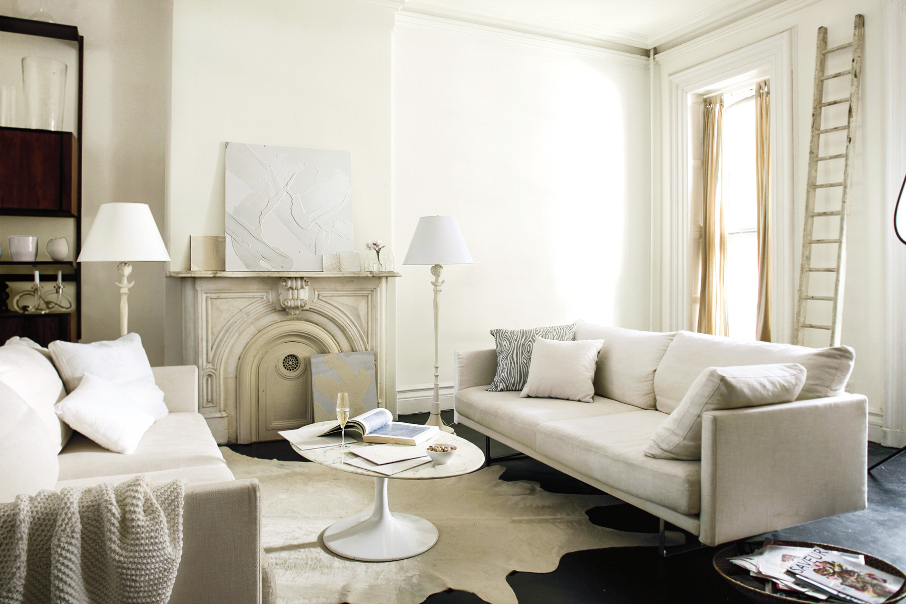 Finding the perfect color white andrea sherman design for Benjamin moore cotton balls