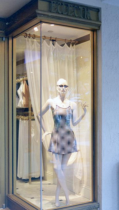 An elegant upscale European clothing store